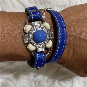 Lia Sophia Blue Leather Bracelet Bundle